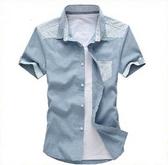 短袖襯衫-大方創意透氣亞麻男上衣8款6v3【巴黎精品】