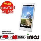 TWMSP★按讚送好禮★iMOS 宏碁 Acer Iconia Tab 8 A1-840 3SAS 防潑水 防指紋 疏油疏水 螢幕保護貼
