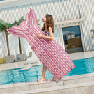 粉色美人魚魚尾 充氣浮床 成人可用 水上坐騎 浮板 座船游泳圈 泳池 玩水 游泳 海邊 橘魔法 現貨