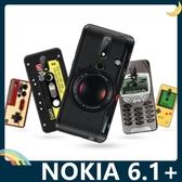 NOKIA 6.1 Plus 復古偽裝保護套 軟殼 懷舊彩繪 計算機 鍵盤 錄音帶 矽膠套 手機套 手機殼 諾基亞