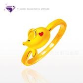J'code真愛密碼『鼠不盡的愛』黃金戒指-純金9999 元大鑽石銀樓