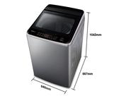 《Panasonic 國際牌》 15公斤 直立式變頻洗衣機 NA-V150GT-L (炫銀灰)