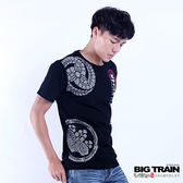 BIG TRAIN 黑田官兵衛短袖T-男-黑色