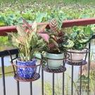 3個裝 陽臺花架懸掛式綠蘿吊蘭花盆架掛架護欄鐵藝架子【步行者戶外生活館】