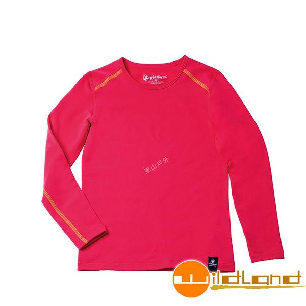 Wildland 荒野 0A52669-16蜜桃紅 女童輕量保暖衣 輕量/爬山健行休閒衫/保暖衣