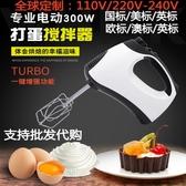 出口110V220V-240V手持式電動打蛋器機大功率5檔和面打奶油攪拌器【快速出貨】