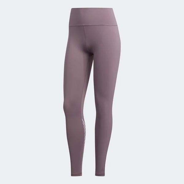 ADIDAS BELIEVE THIS 2.0 TORCH LONG TIGHTS 女裝 長褲 慢跑 瑜珈 緊身 乾爽 舒適 紫【運動世界】FJ7251