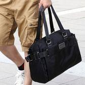 尼龍帆布男包韓版潮流旅行包單肩斜挎包商務休閒男士手提包行李包
