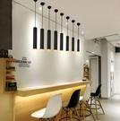 簡約現代餐廳小北歐圓柱形長筒吧台前台單頭創意個性【全館免運】