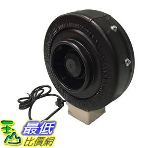 [106美國直購] Durable black Inline Fan 6-Inch Part IF6 Perfect for Grow Rooms Cigarette Smoke Foul Odor Emissions