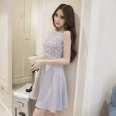 鏤空修身顯瘦蕾絲小禮服連身裙