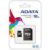 威剛 ADATA microSDHC 16G Class4 16GB 記憶卡含轉卡