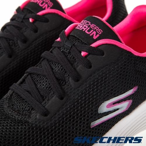 SKECHERS GORUN 400 V2 女鞋 慢跑 瑜珈鞋墊 緩衝 中底 舒適 透氣 黑 粉【運動世界】128000BKPK