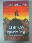 【書寶二手書T8/原文小說_JNE】Thirty Nothing_外皮兩人一狗剪影_Lisa Jewell