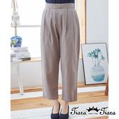 【Tiara Tiara】百貨同步ss 都會時尚風直筒長褲(綠/灰)