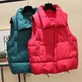 背心外套 新款韓版短款羽絨棉馬甲女加厚背心坎肩無袖外套寬鬆面包服潮 3C公社