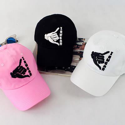 鴨舌帽 韓國ISWEAR字母棒球帽嘻哈帽 男女 -3色【Ann梨花安】