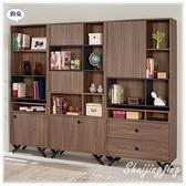 【水晶晶家具/傢俱首選】JM1888-234 約克7.4X6尺半開放式書櫃三件式全組~~雙色可選