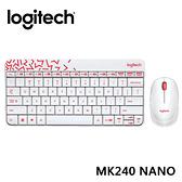 【限時至1024】 羅技 Logitech MK240 Nano 無線鍵鼠組 - 白色/紅邊
