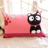 Kiro貓‧小黑貓腳印造型 水洗布 拉鍊 枕頭套/不含枕心 【230536】