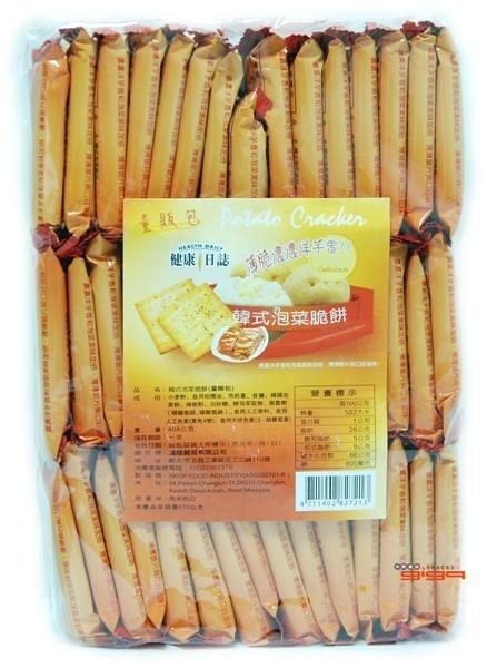 【吉嘉食品】健康日誌脆餅(韓式泡菜) 每包408公克[#1]{4711402827213}