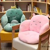 坐墊靠墊一體椅子座椅墊屁股家用墊子靠背座墊【時尚大衣櫥】