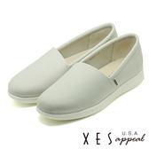 XES 女鞋 懶人鞋 樂福鞋 MIT 超纖 斜素面便鞋_灰