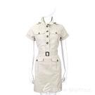 BURBERRY 卡其灰色口袋設計短袖洋裝(附腰帶) 1540679-28