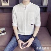中大碼短袖襯衫夏季襯衣服寬鬆韓版潮流帥氣休閒男裝 QX2514 『愛尚生活館』