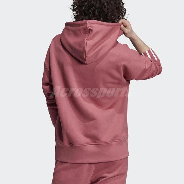 adidas 長袖T恤 R.Y.V. Hoodie 粉紅 白 女款 帽T 運動休閒 【ACS】 EJ8565
