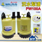 大井泵浦 PW100A 沉水泵浦。110V 水龜 抽水馬達 抽水機。積水排除