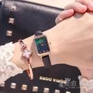高級感時尚小綠錶手錶少女ins風 法國小眾輕奢復古簡約氣質長方形 小時光生活館