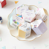 【BlueCat】信的戀人六角形虹色水彩和紙膠帶