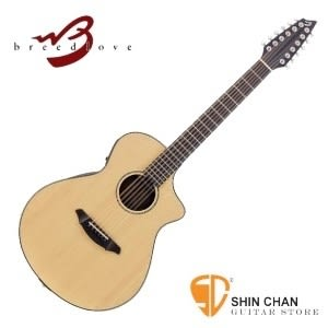 (Atlas Solo C350/SRe-12)Breedlove 木吉他/民謠吉他 可插電單板  12弦民謠吉他 附硬盒