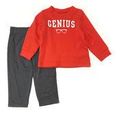 Carter s 長袖套裝 T恤上衣+長褲二件組紅 男寶寶【CA209A401】