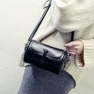 森系複古圓桶包包免運新品時尚女包簡約百搭單側背包潮