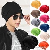 糖果色堆堆帽男女春夏薄款百搭套頭帽透氣睡帽街舞頭巾帽女包頭帽 果果新品