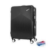 新秀麗 AT美國旅行者 Air Ride 2/8開彈力滑輪PC硬殼 行李箱/旅行箱-25吋(黑)