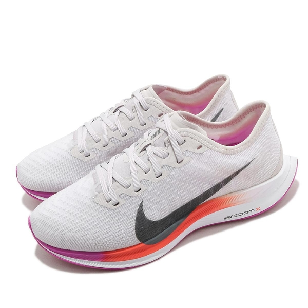 Nike 慢跑鞋 Wmns Zoom Pegasus Turbo 2 灰 紅 女鞋 運動鞋 【ACS】 AT8242-009