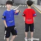 童裝男童男孩夏裝套裝2020新款夏款洋氣帥氣運動短袖韓版大兒童潮