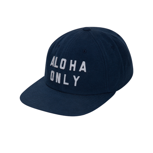 Hurley  ALOHA ONLY WASHED HAT 棒球帽-藍(男)