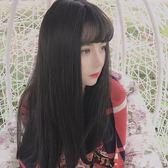 女式韓國網紅逼真自然長捲髮大波浪空氣薄劉海假髮LK1266『毛菇小象』