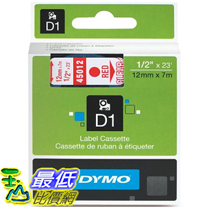 [美國直購] DYMO 45012 Standard D1 Self-Adhesive Polyester Tape for Label Makers 1/2 inch x 23 標籤紙