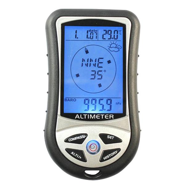 高度計 多功能指南針氣壓計海拔表溫度計天氣預報戶外釣魚氣壓儀 小明同學