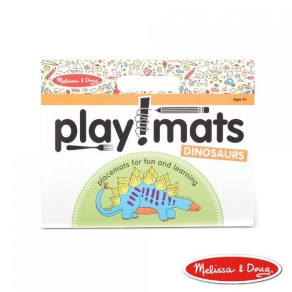 《 美國 Melissa & Doug 》美國瑪莉莎 繪圖本-繪畫遊戲餐墊本,恐龍 / JOYBUS歡樂寶貝