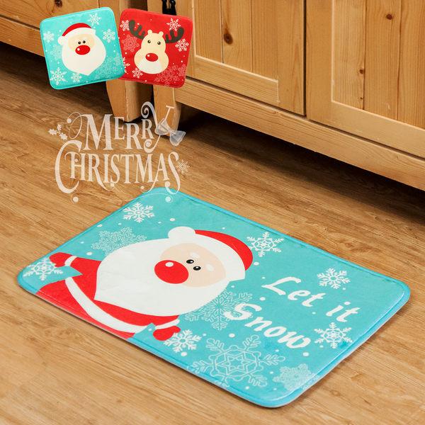 聖誕 交換禮物 2入組 法蘭絨地墊 坐墊 椅墊 地毯 衛浴踏墊 旺寶