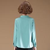 中年媽媽長袖襯衫減齡年輕 女士氣質雪紡t恤打底衫春裝新款夏上衣 幸福第一站