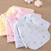 嬰兒上衣純棉花新生兒半背衣 嬰兒夾棉保暖棉襖上衣 初生寶寶和尚服秋冬季全館免運 二度