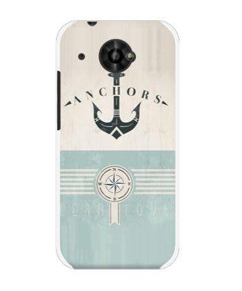 ♥ 俏魔女美人館 ♥ HTC Desire 601 dual /6160 {船錨*水晶硬殼} 手機殼 手機套 保護殼