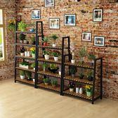 訂製鐵藝花架多層歐式吊蘭花盆架室內綠蘿落地多肉植物架陽台實木花架    花間公主